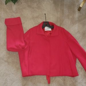 Yves Saint Laurent Red Swing blazer